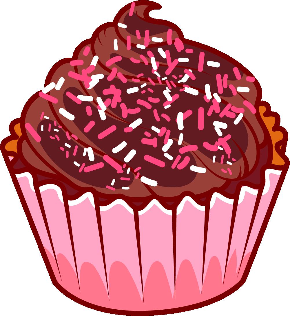 Chocolate Cake Ice Cream Muffin Cupcakes Transprent Clipart.