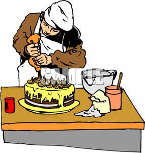 Cake Making Clipart.