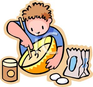 Cake mix clipart.