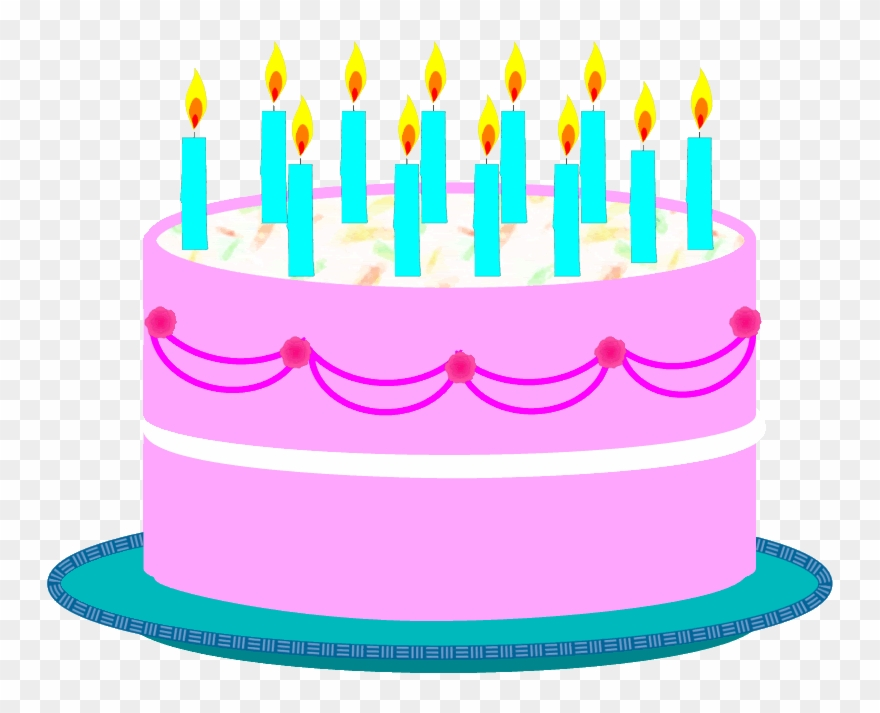 Free Birthday Candles Clipart Photo.
