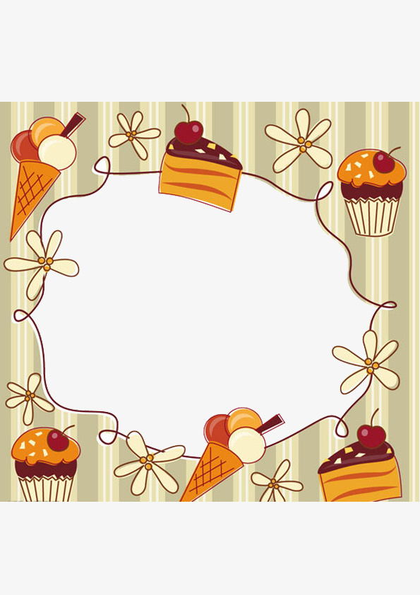 Food Border Clipart Cake Flowers PNG Image And For Expensive Borders.