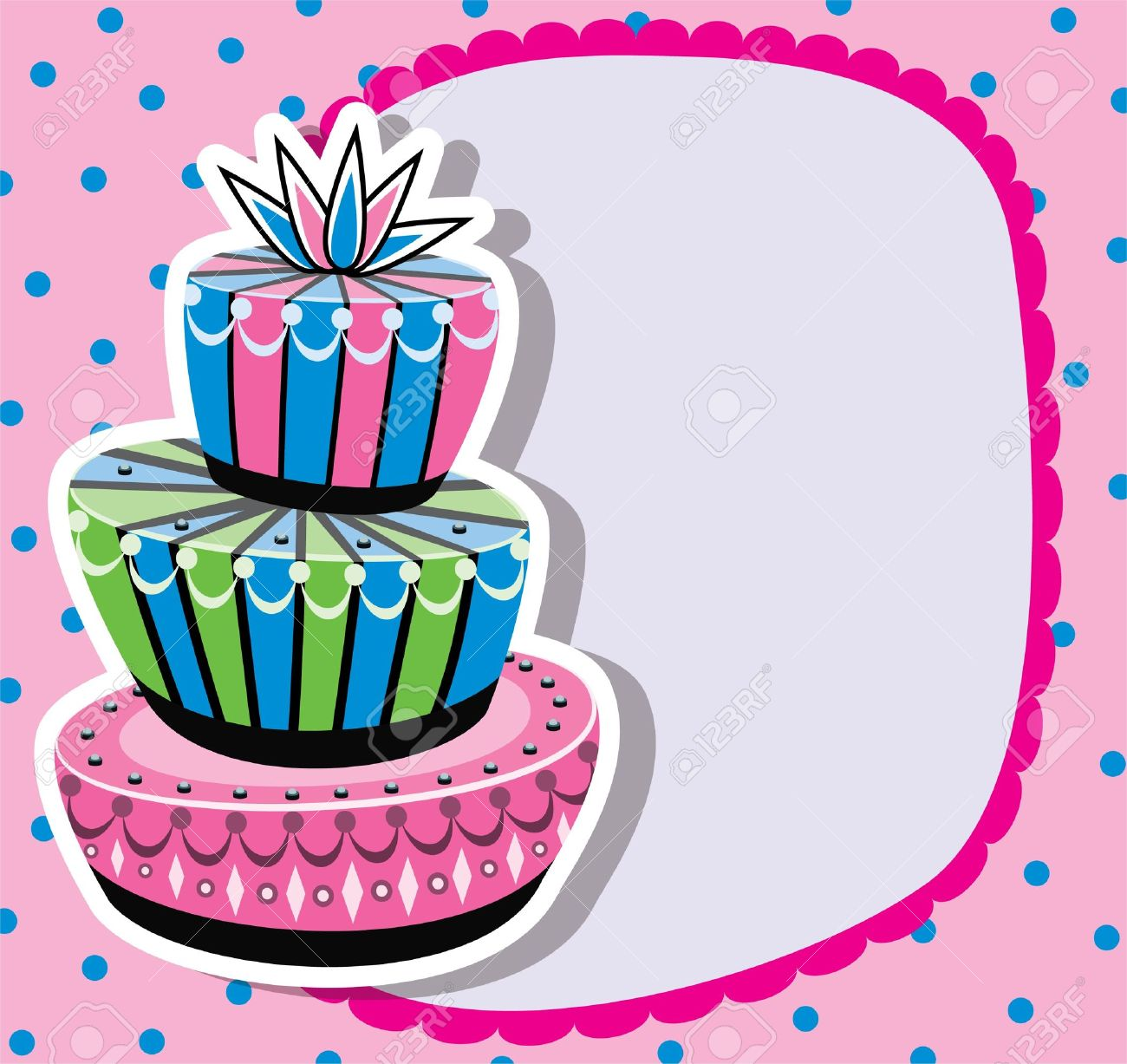 Birthday Cake Border Clipart.