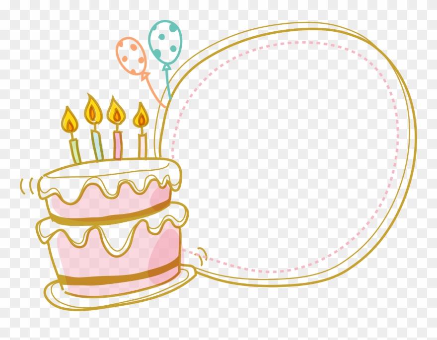 Cake Birthday Border Free Clipart Hq Clipart.