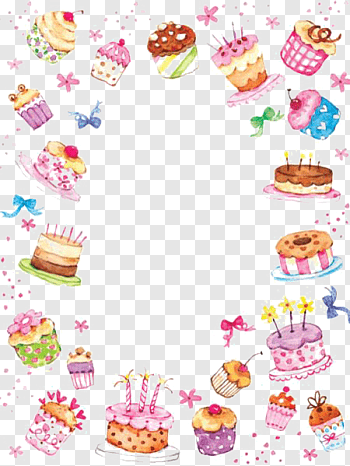 Cake Border cutout PNG & clipart images.