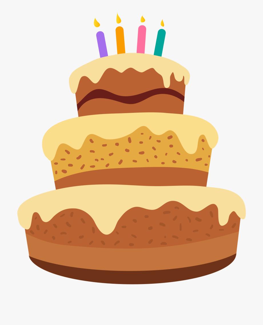 Happy Birthday Cartoon Images Beautiful Cake Clipart.