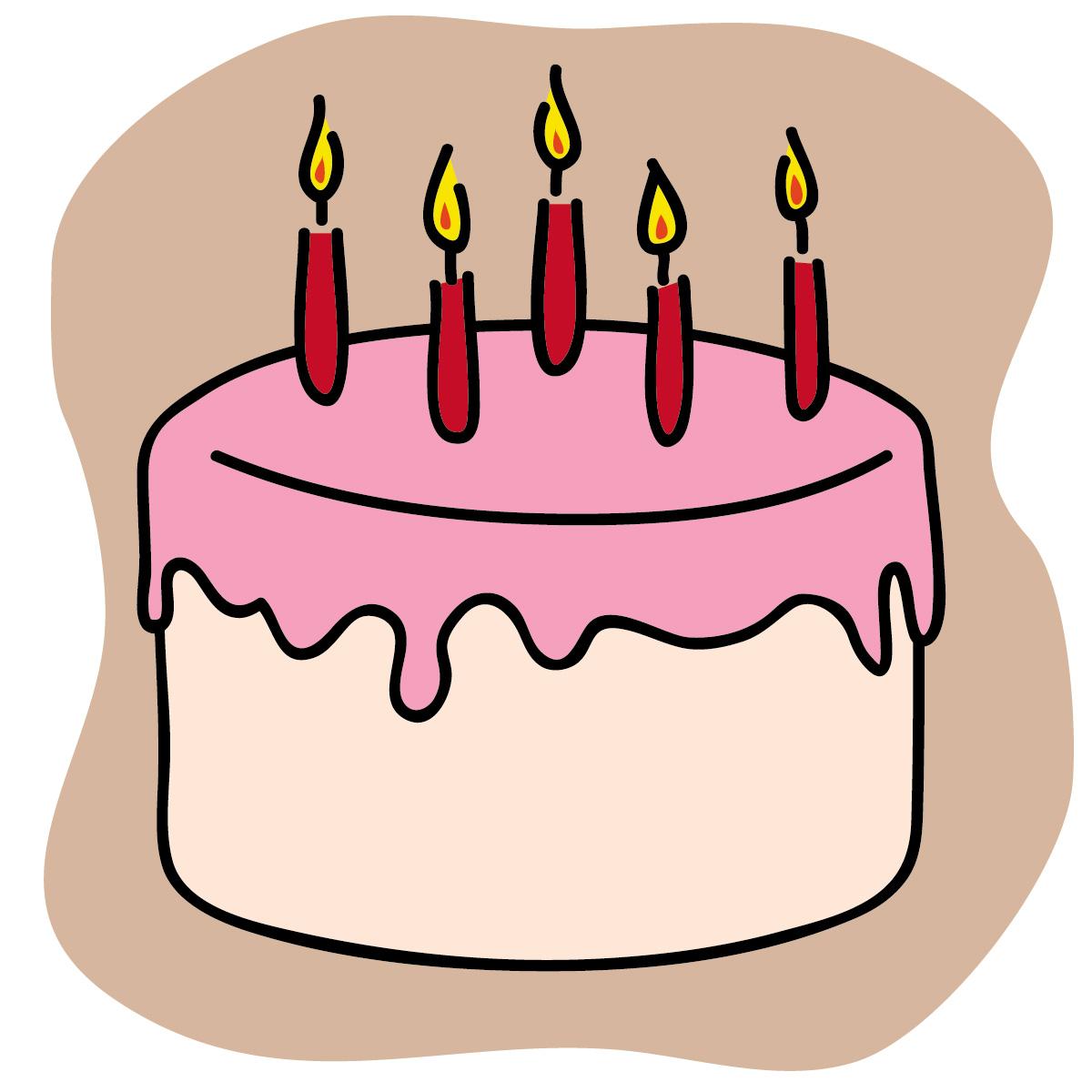 Free Birthday Cake Clip Art.