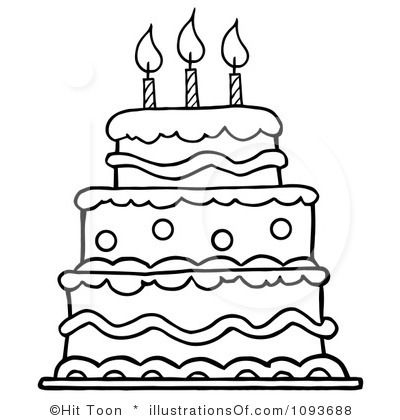 Birthday Cake Clipart 1093688 By Hit Toon Royalty Free RF.