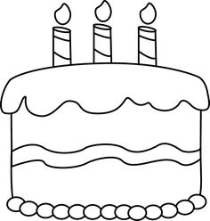 Birthday Cake Coloring Page.