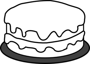 Clipart Cake Black And White No Candle.