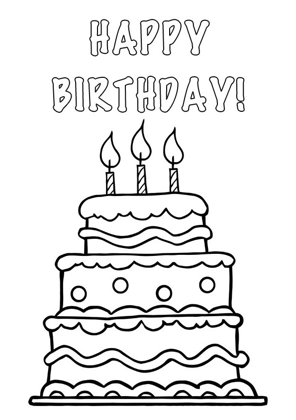 Black And White Clipart Birthday Cake Clipground