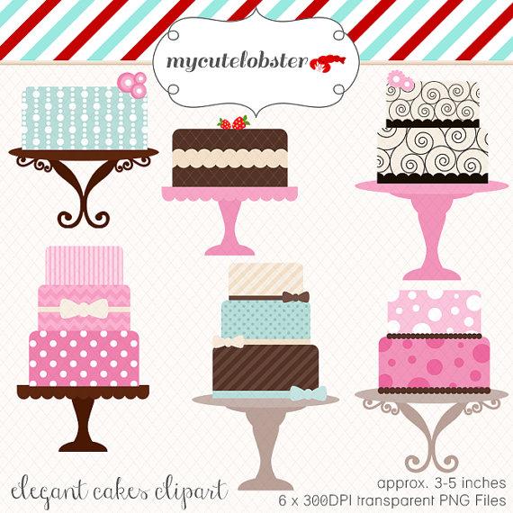 Cakes Clipart Set.