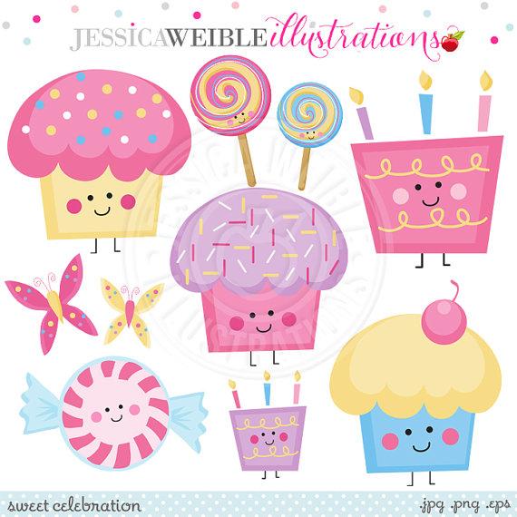 Sweet Celebration Cute Digital Clipart.