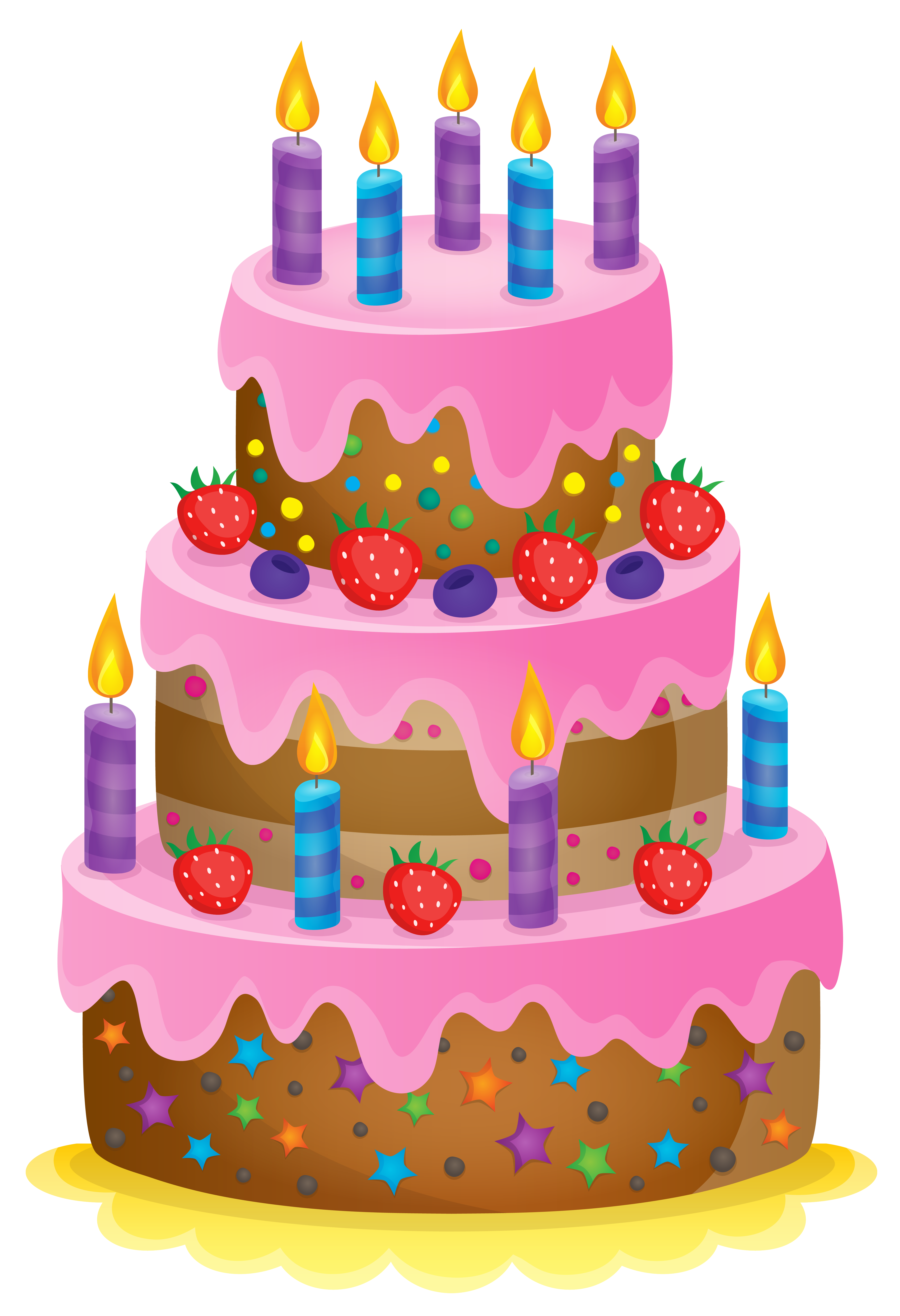 Cute Cake PNG Clipart Image.