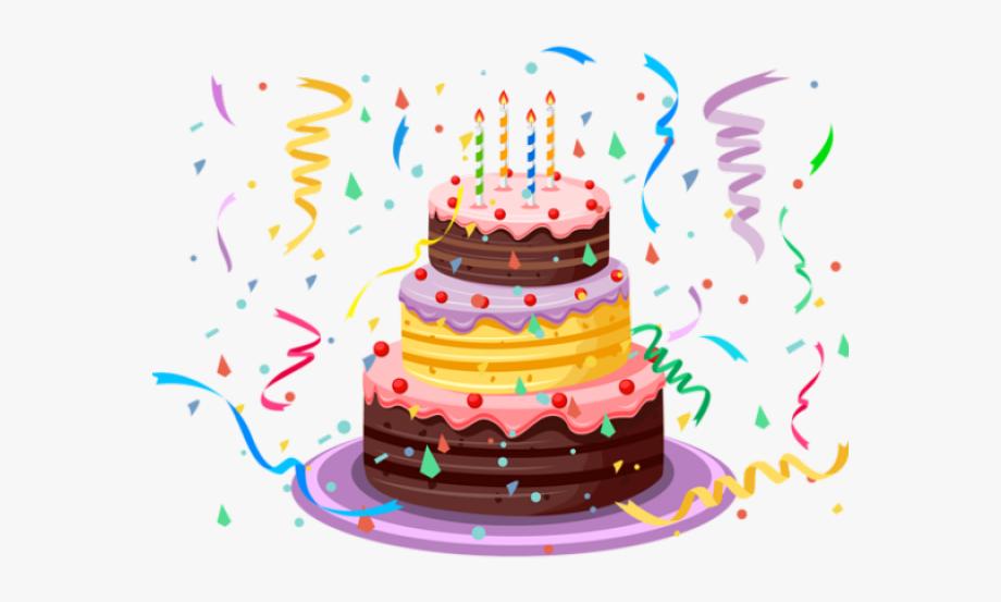 Birthday Cake Clipart Transparent Background.