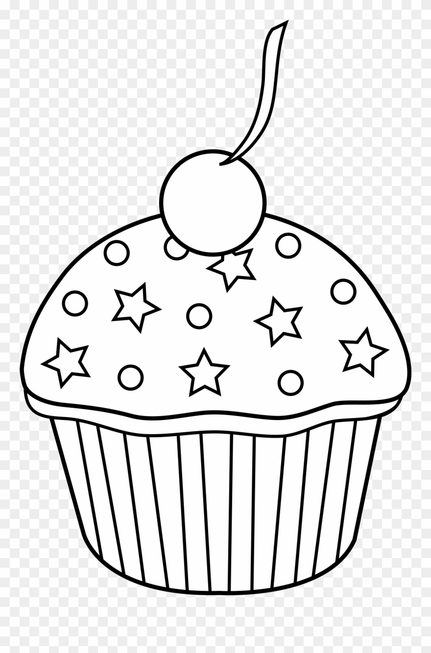 Cute Cupcake Outline To Color In Cupcake Outline, Cupcake.