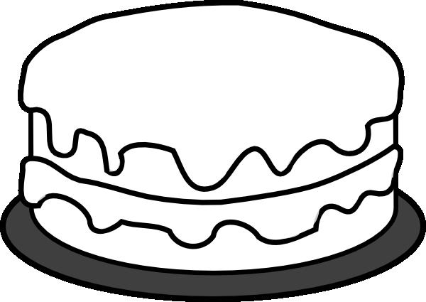 clip art cake outline.