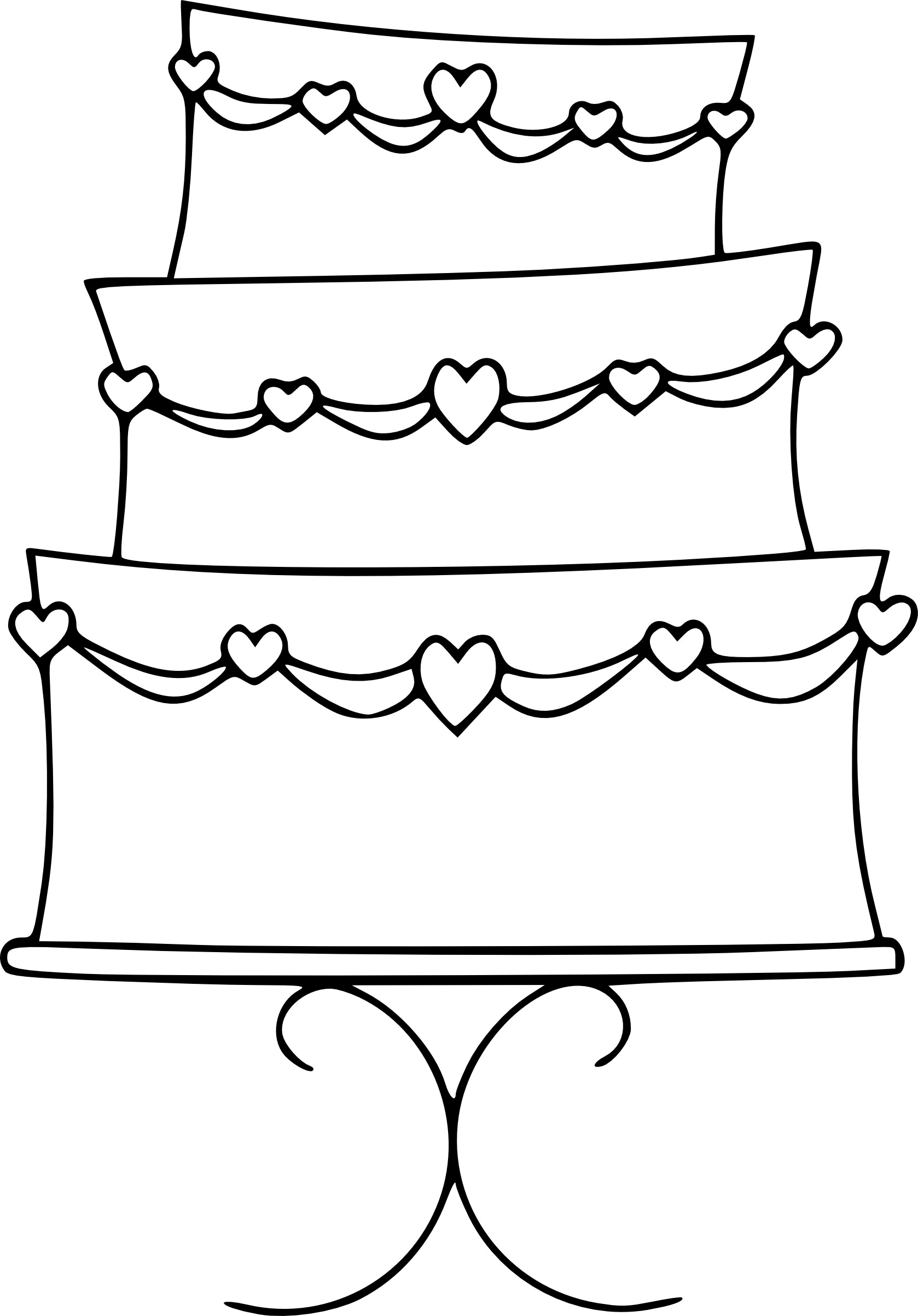 Free Birthday Cake Outline, Download Free Clip Art, Free.