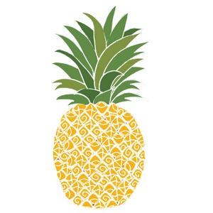 Pineapple Cake Filling Clipart.