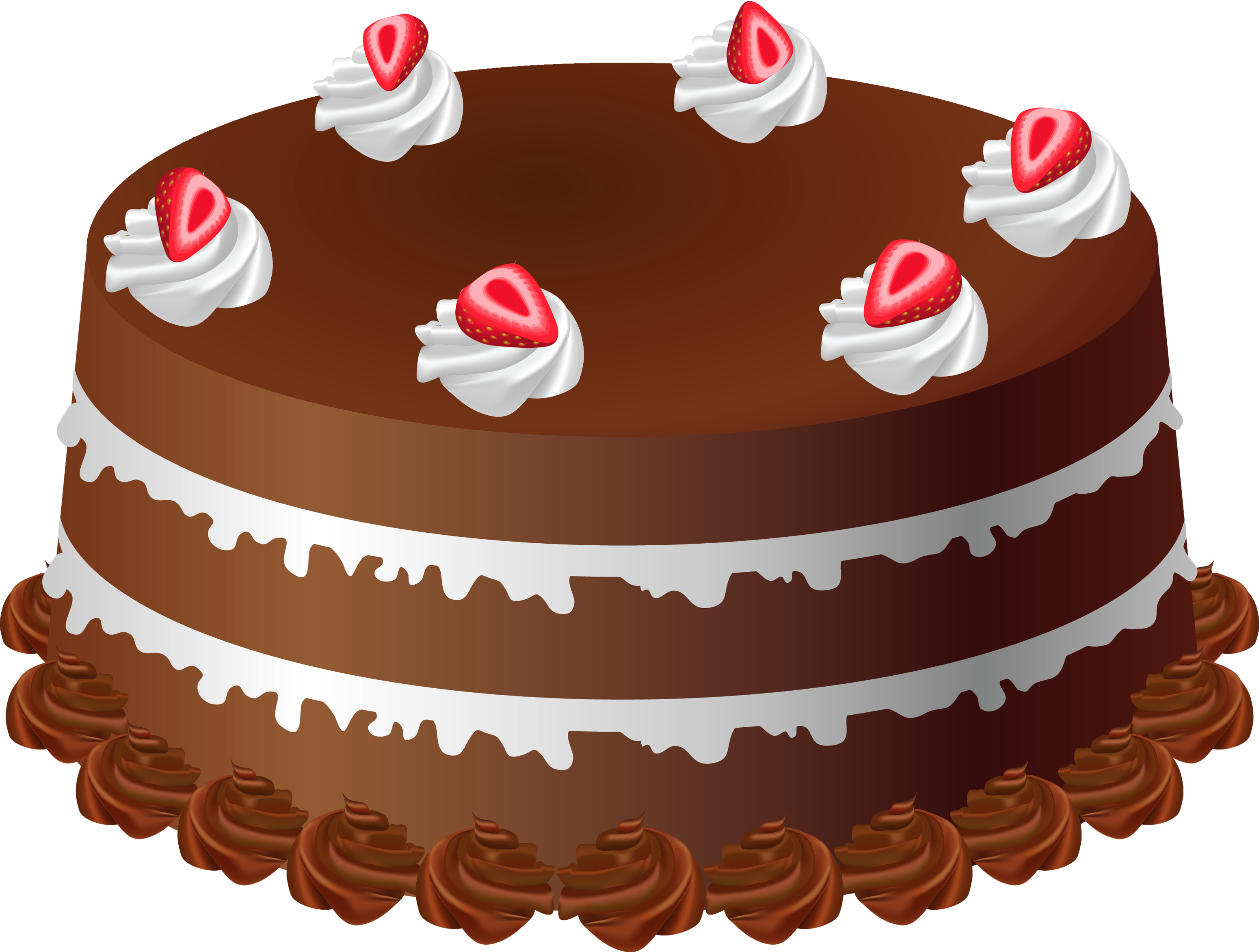 Chocolate Cake Art PNG Large Picture.