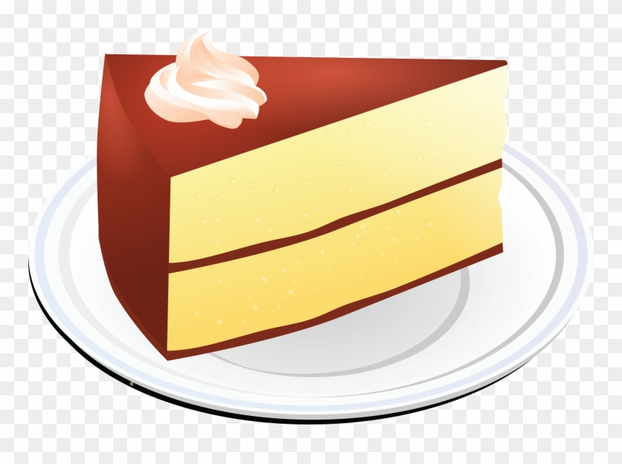 Free Clipart Of A Layered Vanilla Cake With Chocolate.