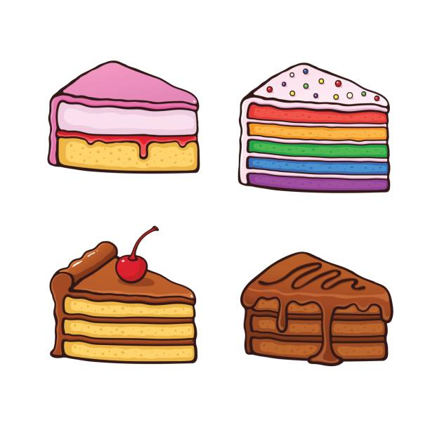 Best Slice Of Cake Illustrations, Royalty.
