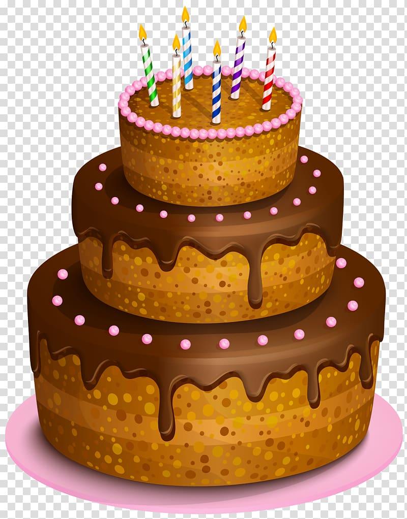 Chocolate cake illustration, Birthday cake Chocolate cake.