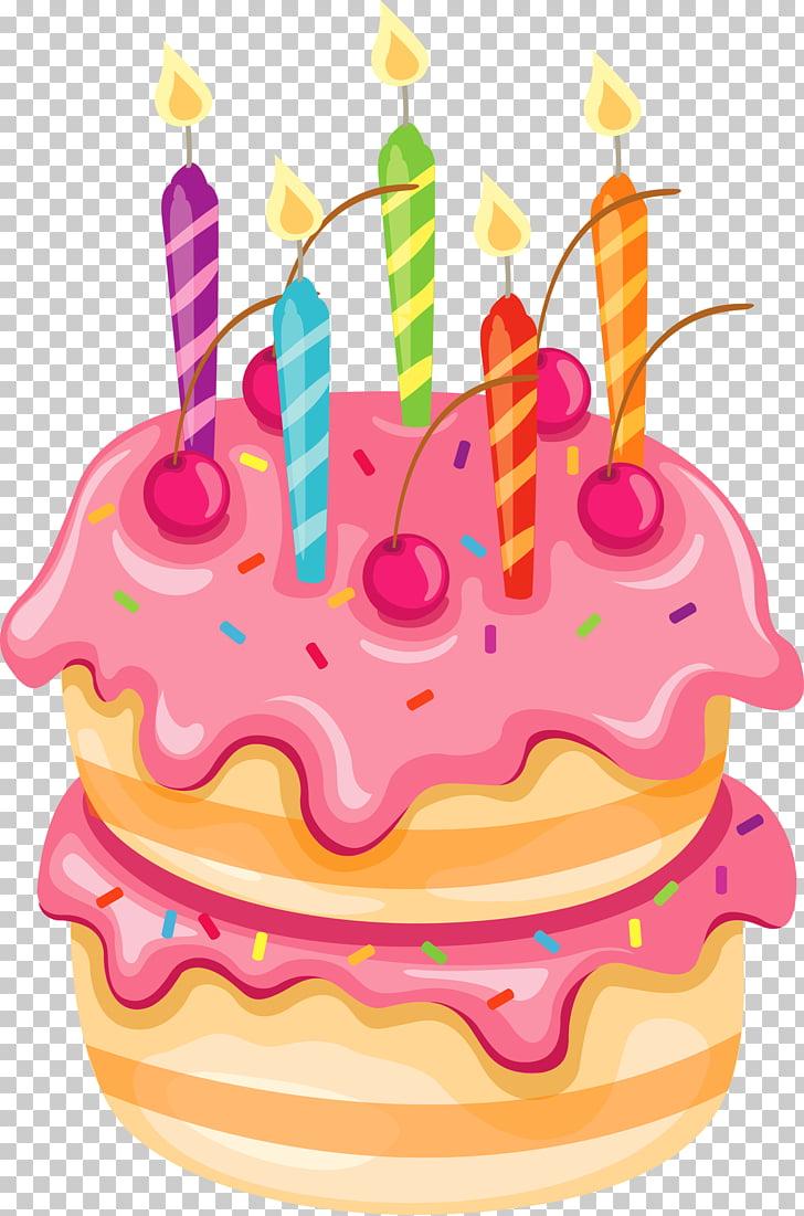Birthday cake Wedding cake , Pink Cake with Candles.