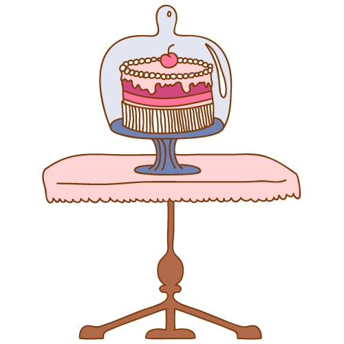 cake on the table clipart - Clipground