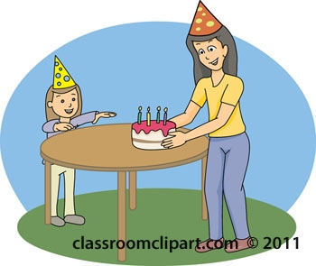Cake On The Table Clipart.