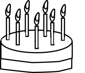 Cake Outline Clip Art at Clker.com.