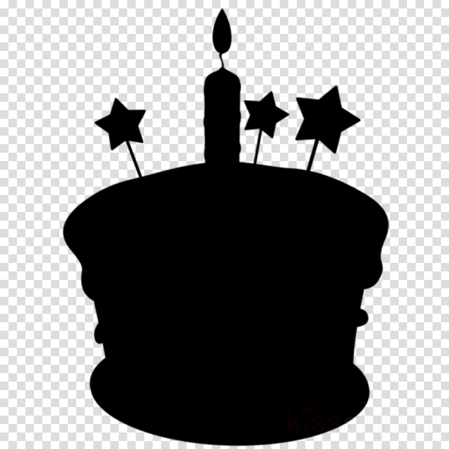Birthday Cake Silhouette clipart.