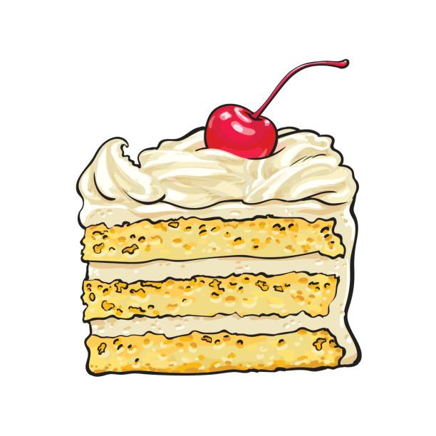 Best Cake Slice Illustrations, Royalty.