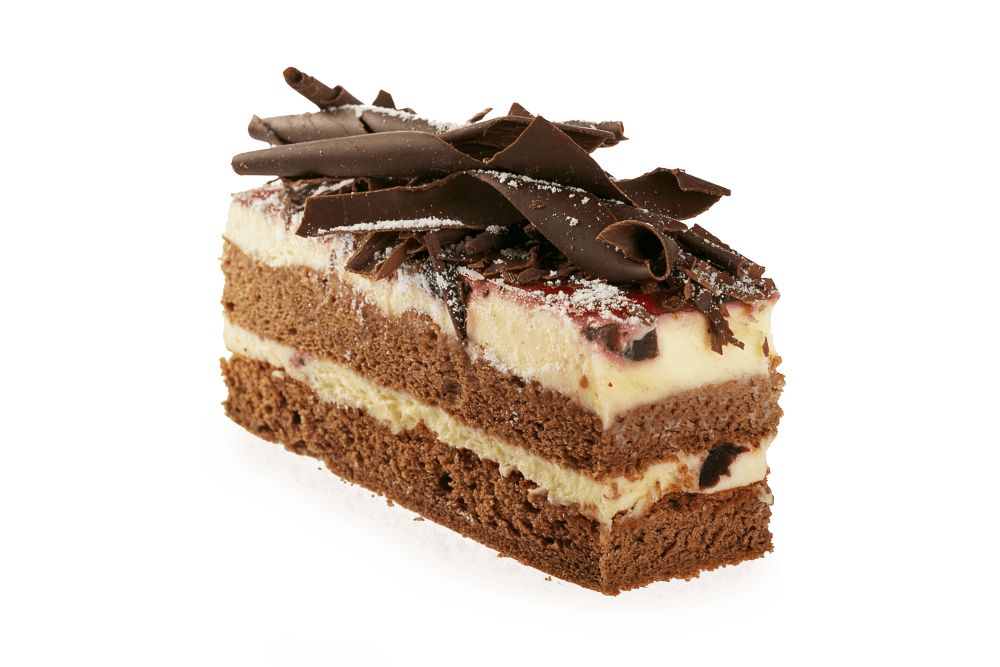 Chocolate Cake Slice transparent PNG.