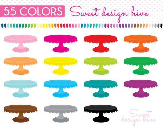 Cake Stand Clipart, Baking Clipart, Pastry Clipart, Planner Clipart,  Scrapbooking clipart, PL0038.