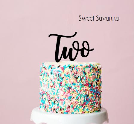 Number cake topper.