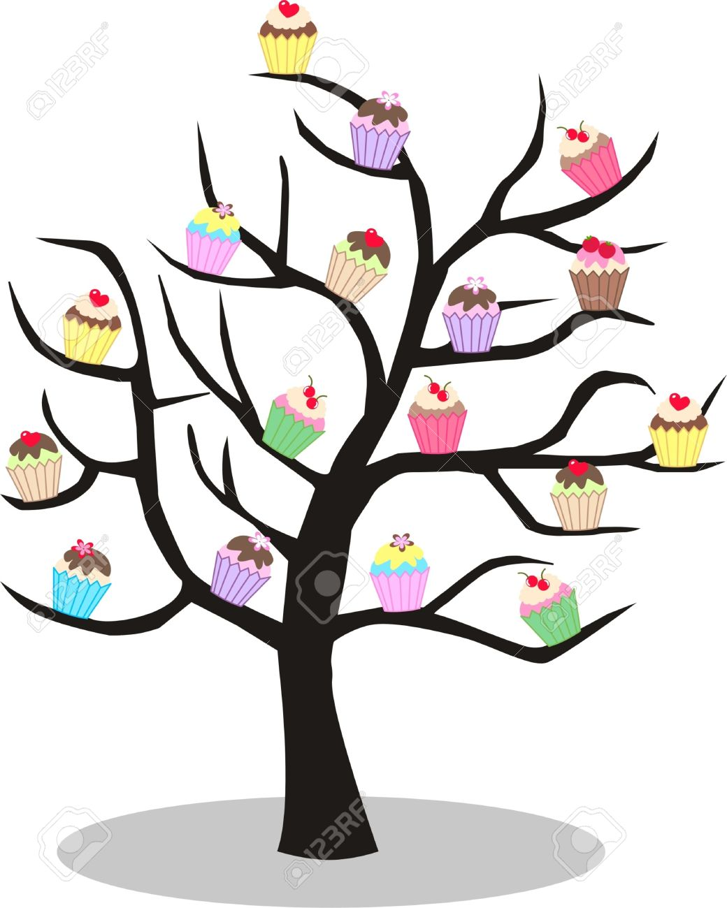 Cupcake Tree Royalty Free Cliparts, Vectors, And Stock.