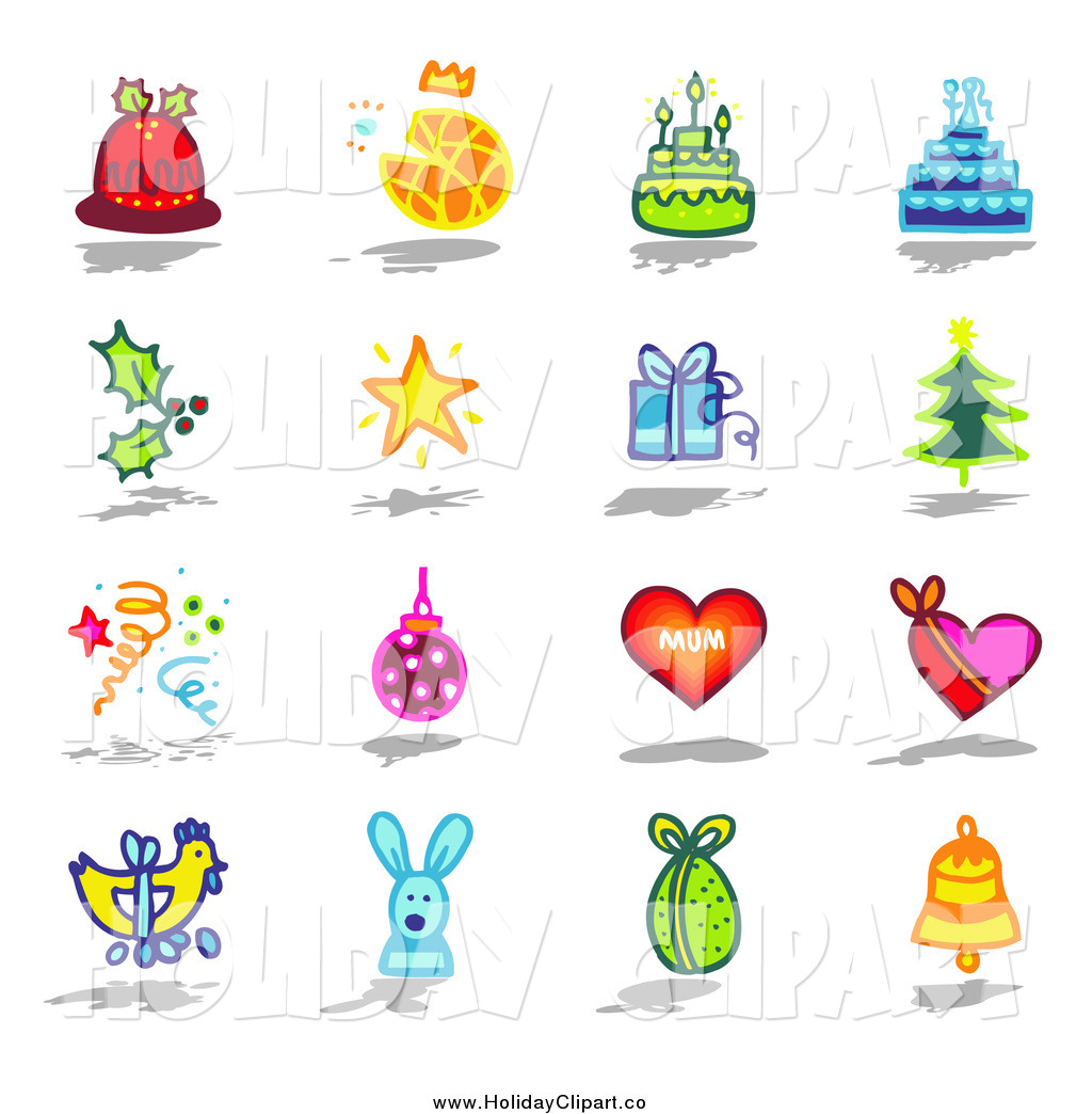 Christmas star gift clipart.