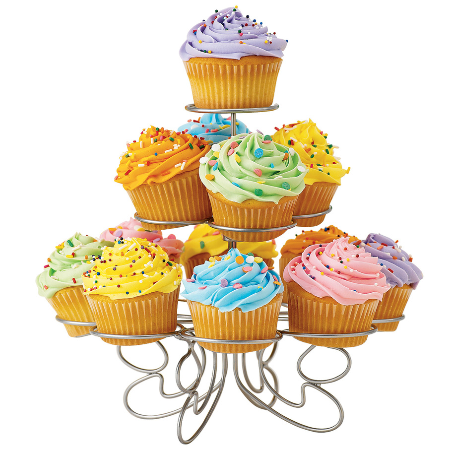 Cupcake stand clipart.