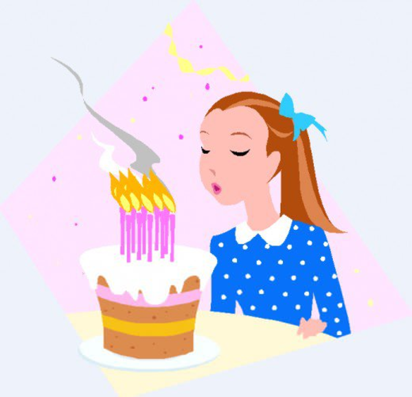 Birthday Cake Candles Clipart.