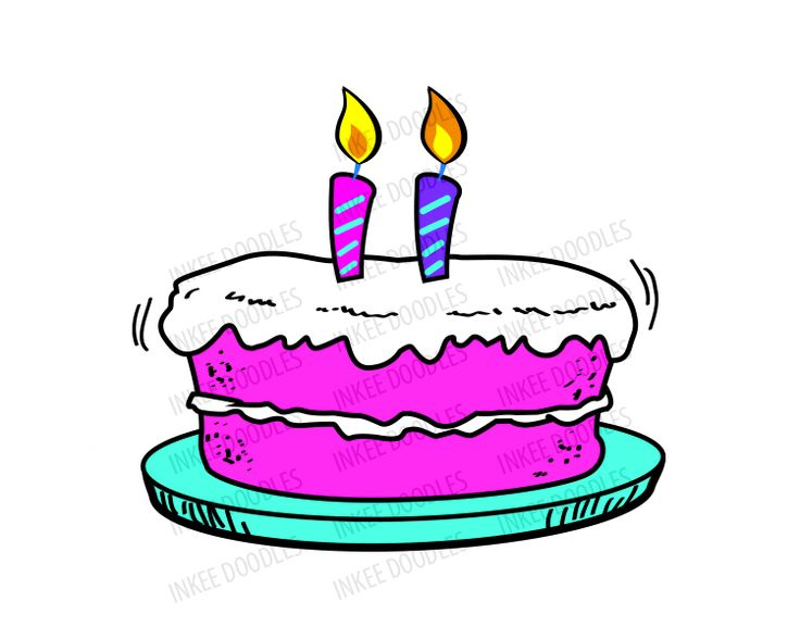 birthday cake candle clipart.