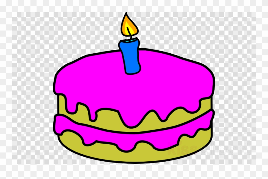 Birthday Cake With One Candle Clipart Birthday Candles.