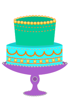 Birthday cake clip art 6 candle.