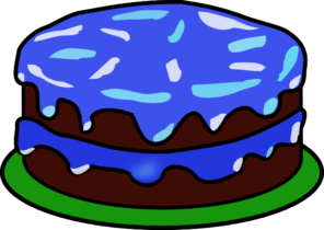 Blue Cake With No Candle Clip Art at Clker.com.