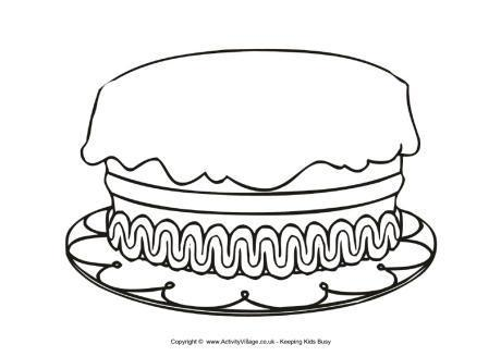 Birthday Cake Without Candles Clipart Black And White.