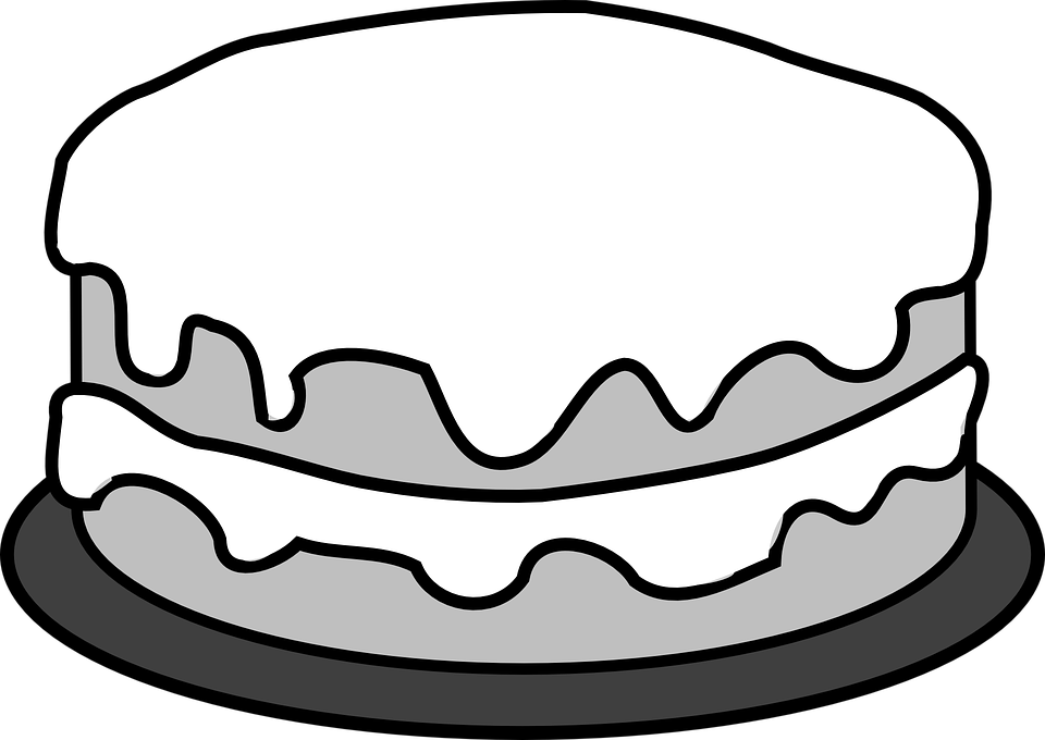 Cake Clipart Without Candles Black And White & Free Clip Art Images.