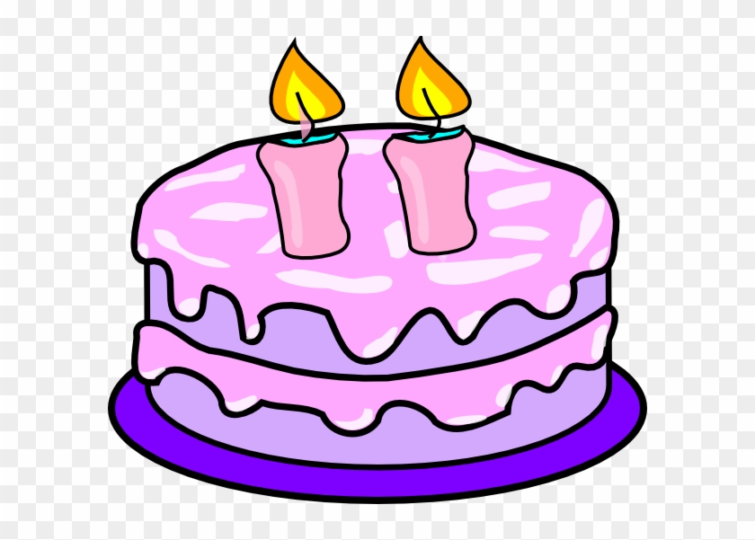 Cake With 2 Candles Clip Art At Clker Co #84528.