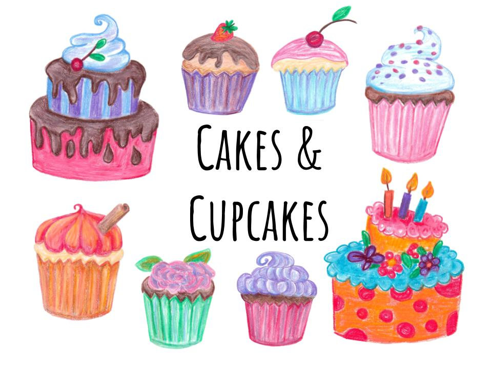 Cakes And Cupcakes Clipart.