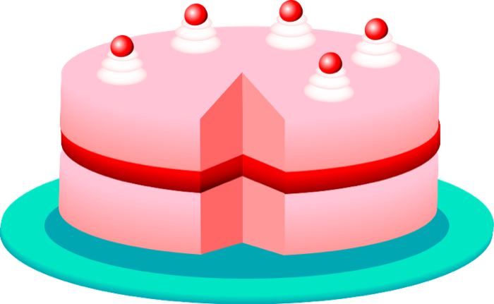 Clipart cakes and pies.