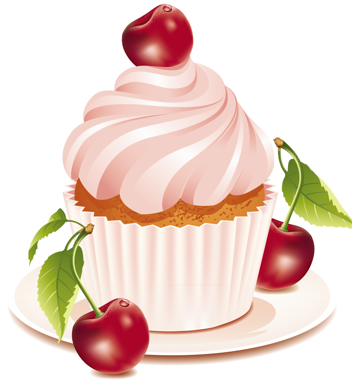 Cherry Cake PNG Clipart.