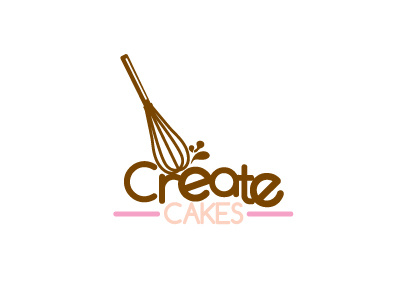 Create Cakes Logo by Adrielo on Dribbble.
